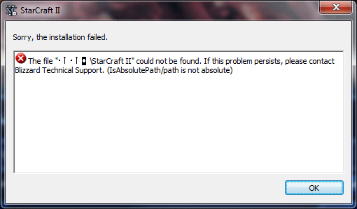 Starcraft Installpath Error